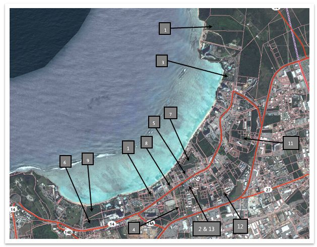 Tumon Land Sales Map 2011-14